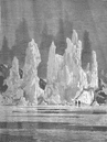 POLAR REGIONS. Icebergs reflected on the Sky 1893 old antique print picture